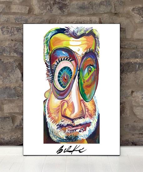 Original Art Wall Poster-Plaque By Philip Burke SKU#000636-P