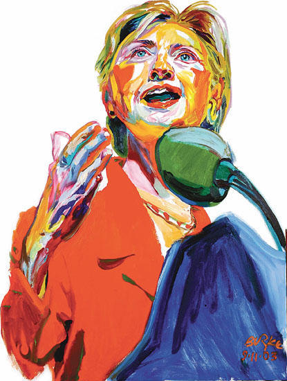 ORIGINAL ARTWORK BY PHILIP BURKE SKU#010803 - Hillary Clinton