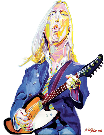ORIGINAL ARTWORK BY PHILIP BURKE SKU#011639 - Tom Petty