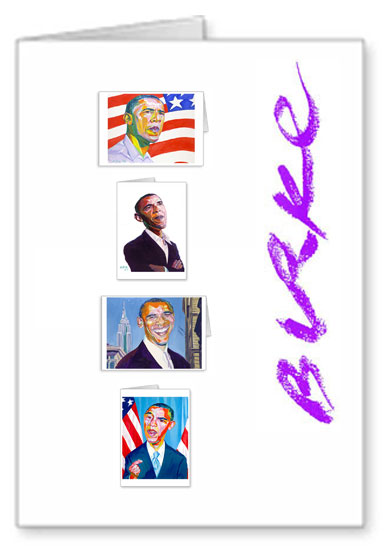 Presidential Original Artwork Notecard Collection By Philip Burke SKU#OBAMA12-NCC