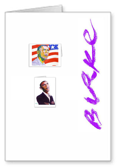 Presidential Original Artwork Notecard Collection By Philip Burke SKU#OBAMA8-NCC
