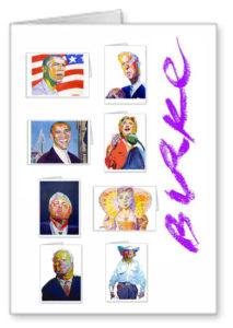 Presidential Election 2008 Original Artwork Notecard Collection By Philip Burke SKU#PE20088-NCC