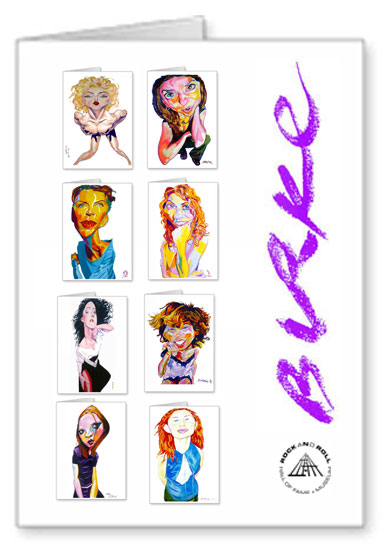 Women Who Rock Original Artwork Notecard Collection By Philip Burke SKU#WWR8-NCC