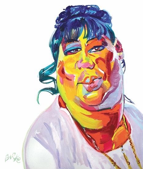 ORIGINAL ART WALL POSTER-PLAQUE BY PHILIP BURKE SKU#000856-P - Aretha Franklin