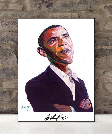 Original Art Wall Poster-Plaque By Philip Burke SKU#011799-Ps