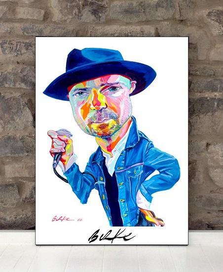 Original Art Wall Poster-Plaque By Philip Burke SKU#012659-P
