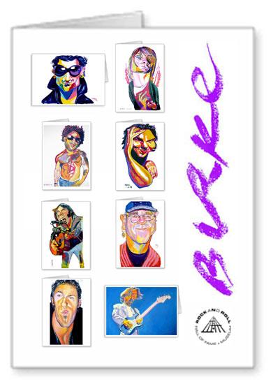 Music Greats Original Artwork Notecard Collection By Philip Burke SKU#MG8-NCC